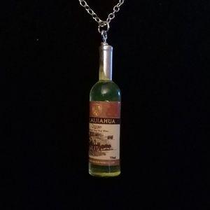 Fun bottle of wine necklace